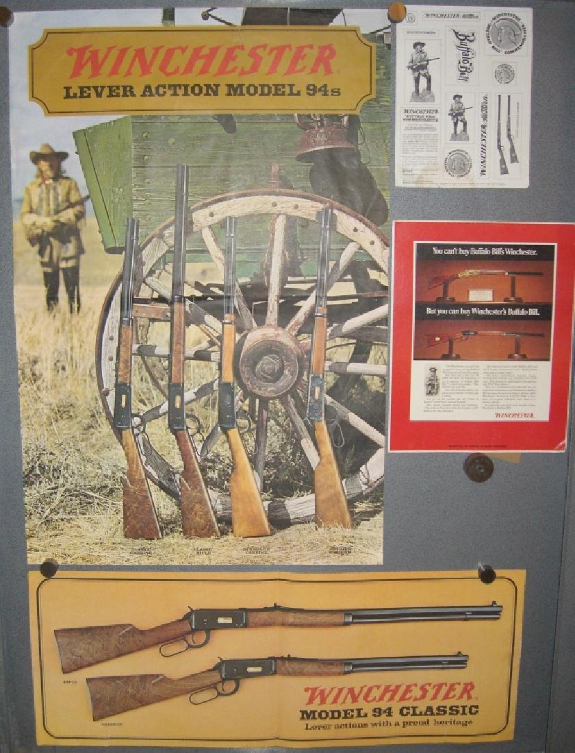 4 Winchester gun advertising posters/ads