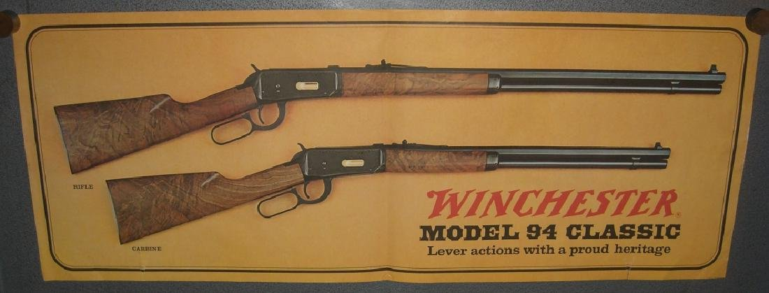 4 Winchester gun advertising posters/ads - 4