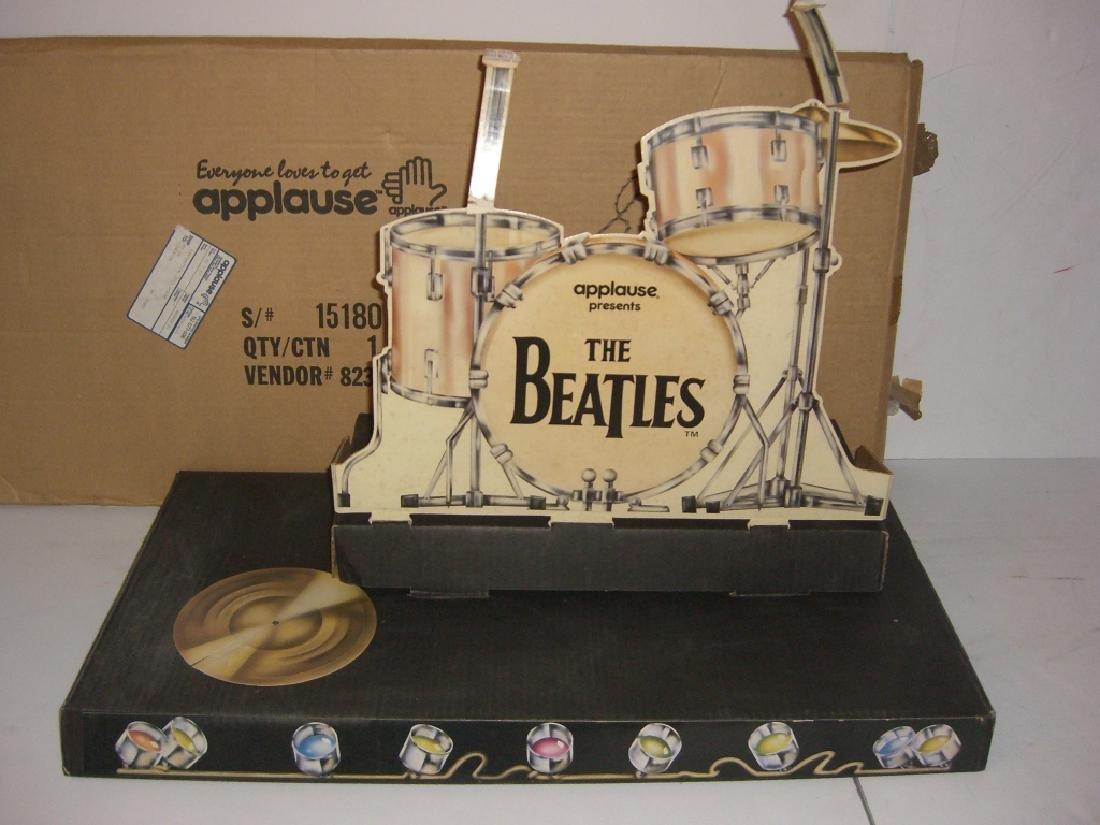 2 original Beatles cardboard doll stage stands