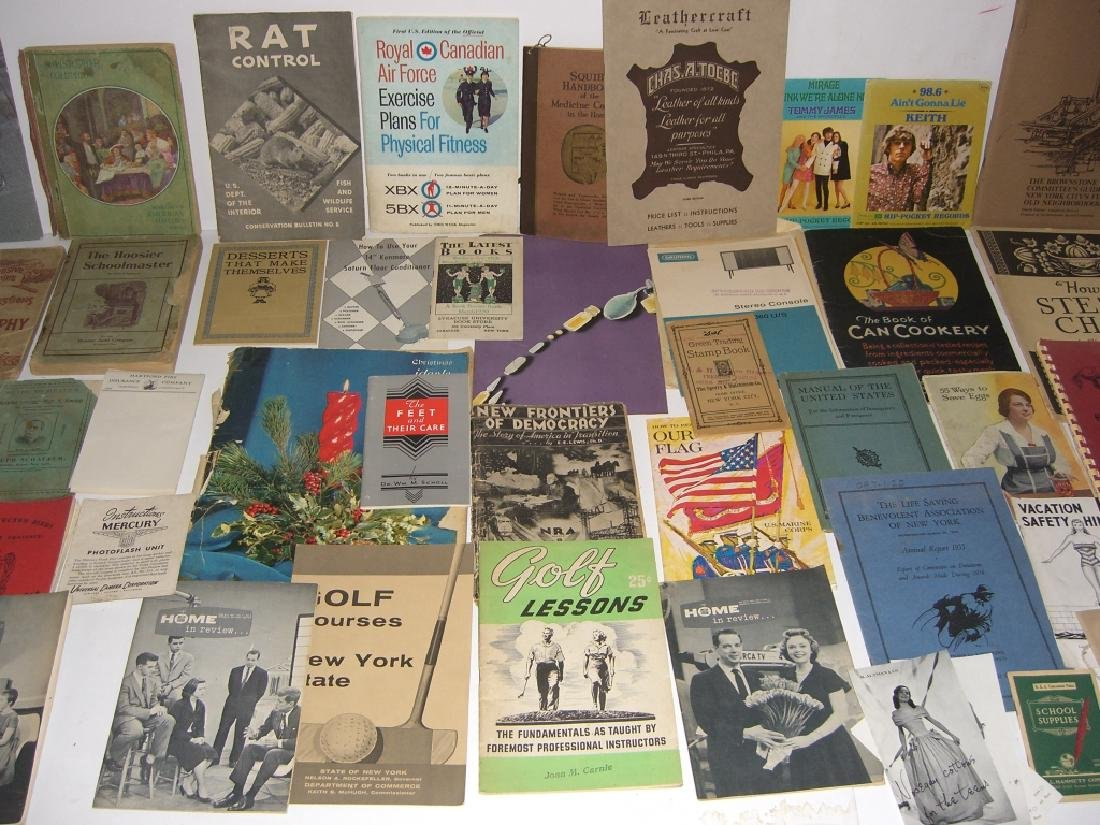60 vintage catalog/pamphlets/booklets/brochures