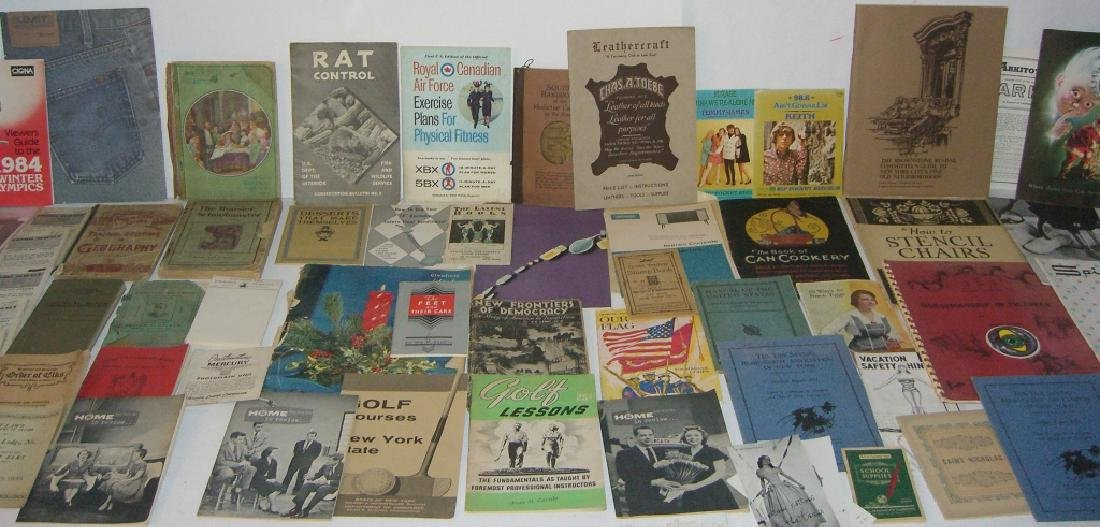 60 vintage catalog/pamphlets/booklets/brochures - 2