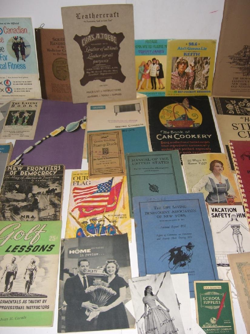 60 vintage catalog/pamphlets/booklets/brochures - 5