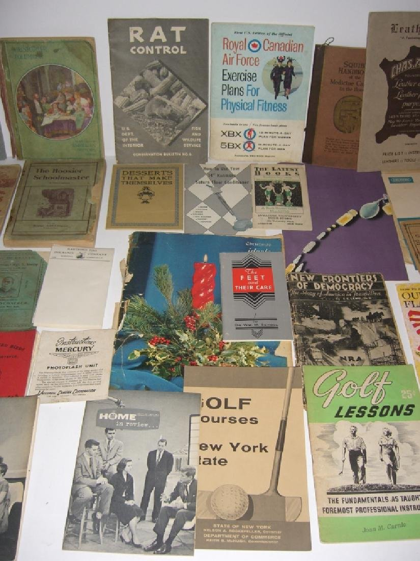 60 vintage catalog/pamphlets/booklets/brochures - 6