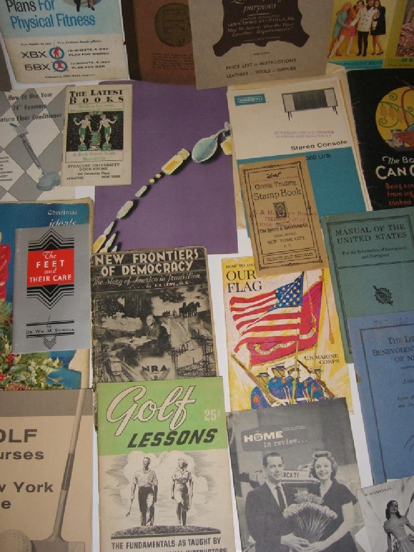 60 vintage catalog/pamphlets/booklets/brochures - 9