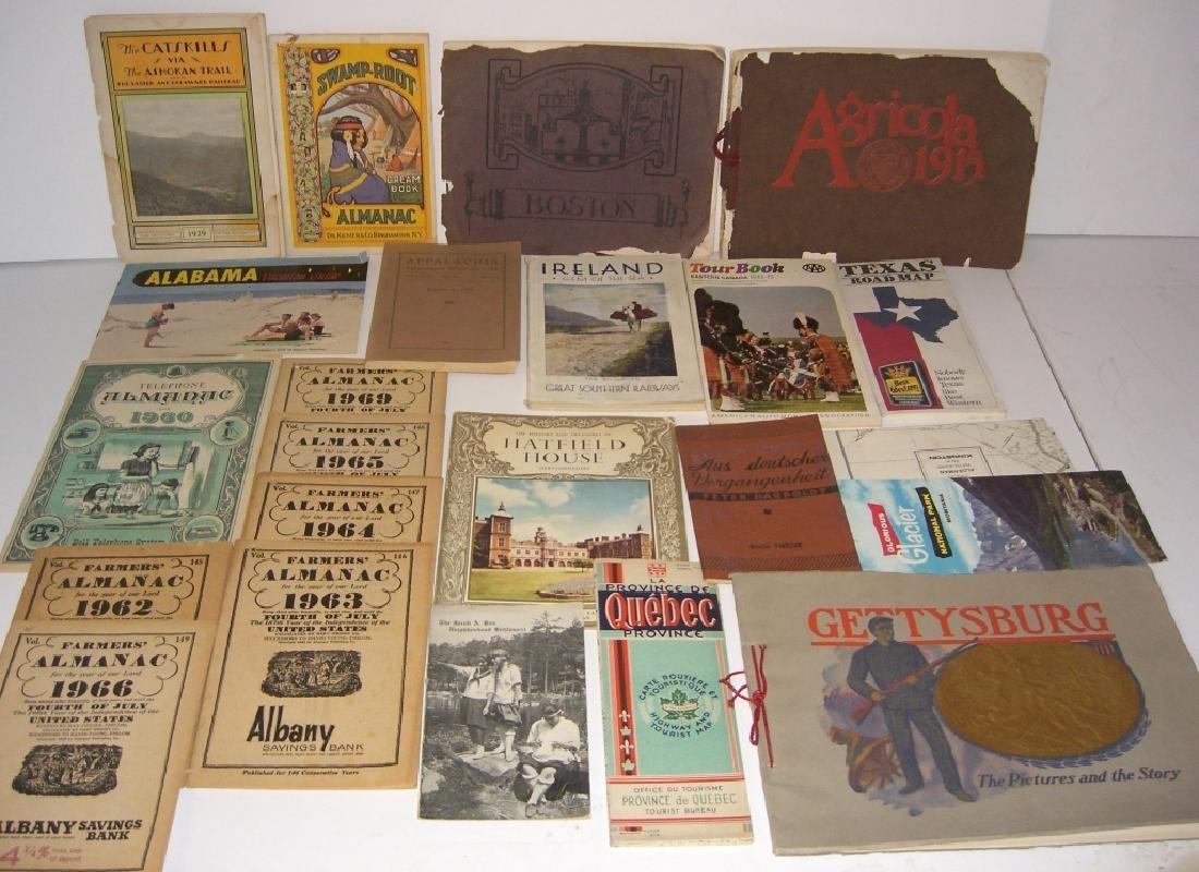 23 vintage travel & almanacs catalogs