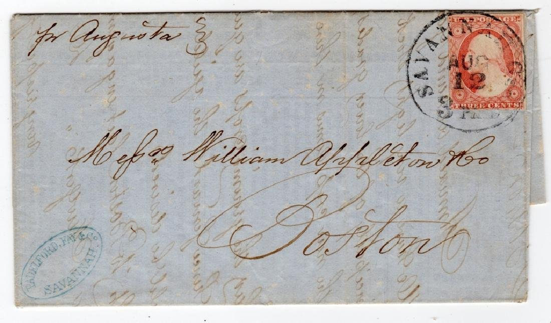 1854 US stamp envelope cover