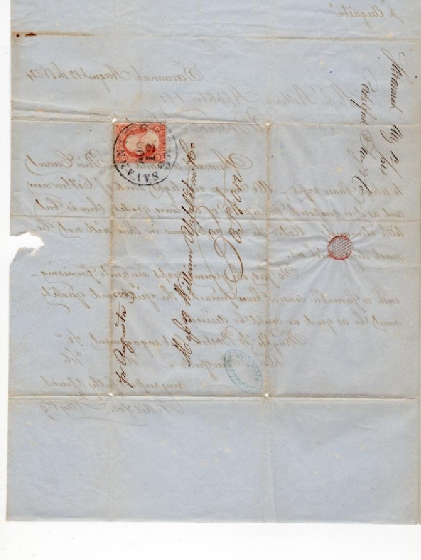 1854 US stamp envelope cover - 5