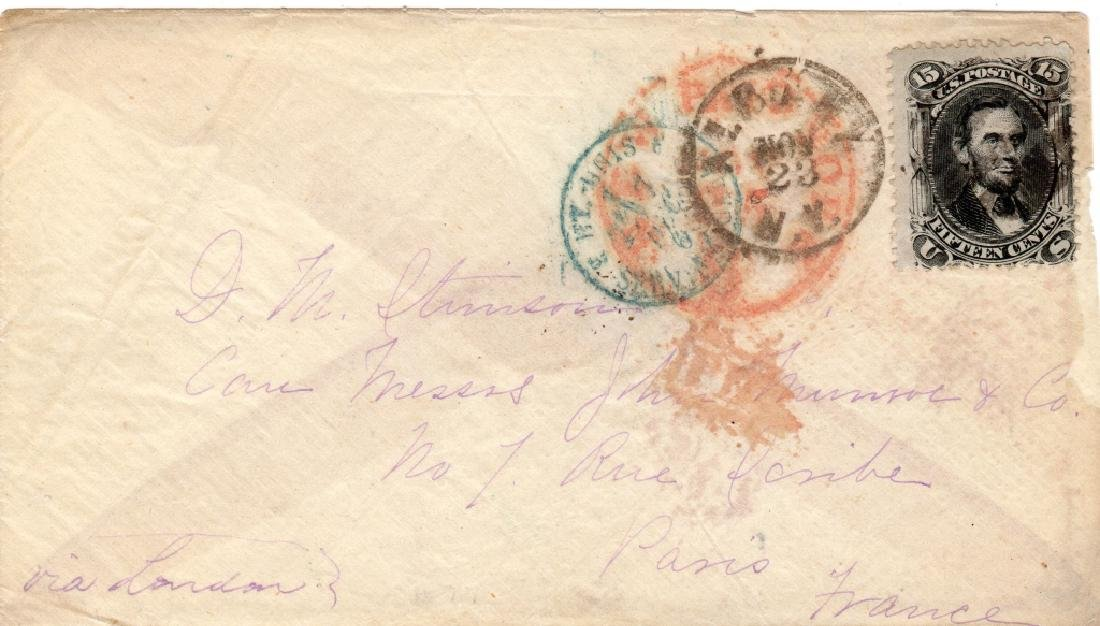 1860's stamp envelope cover