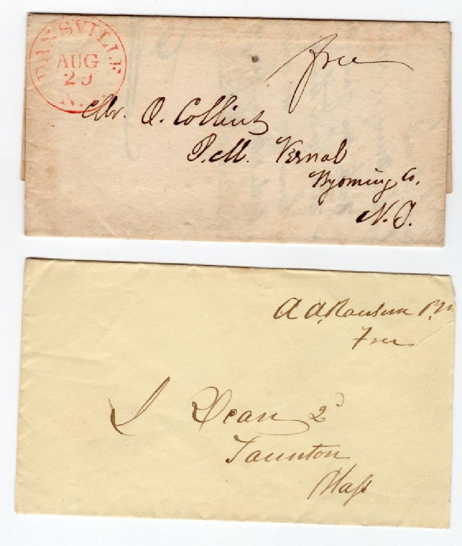 2 US stampless covers