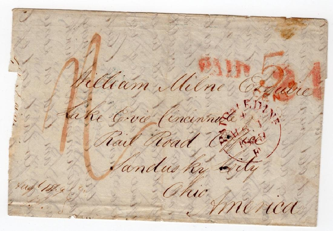 1849 US stampless cover