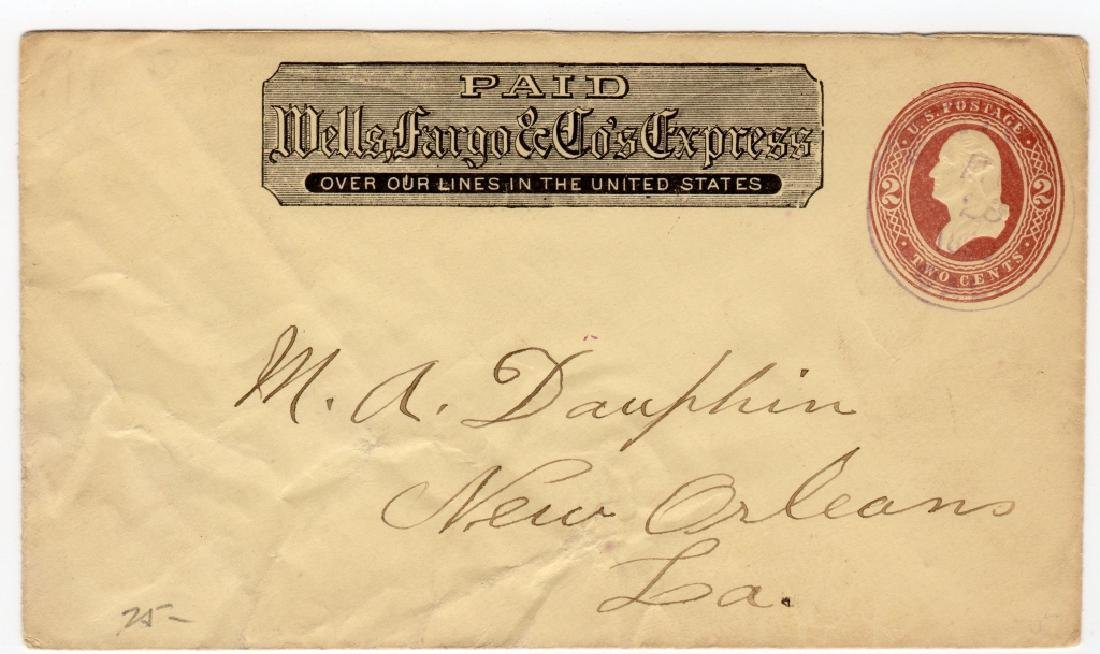 1890 Wells Fargo and Co. Express postal stationary