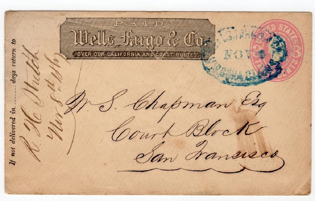 1865 Wells Fargo and Co. Express postal stationary