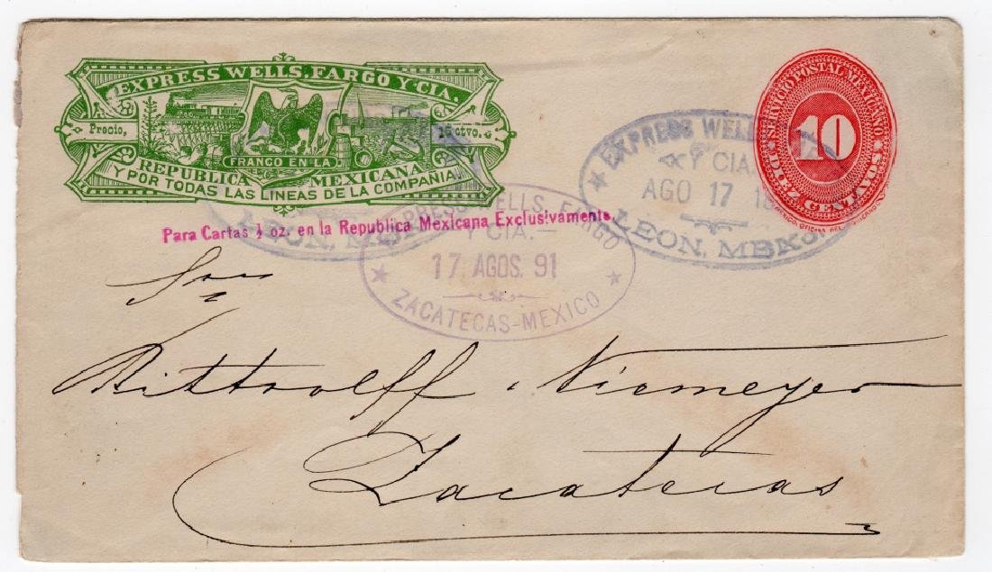 1891 Mexico Wells Fargo Express postal stationary