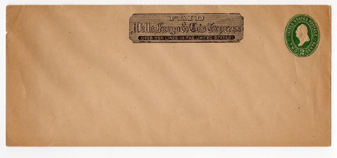 1880's US Wells Fargo Express postal stationary