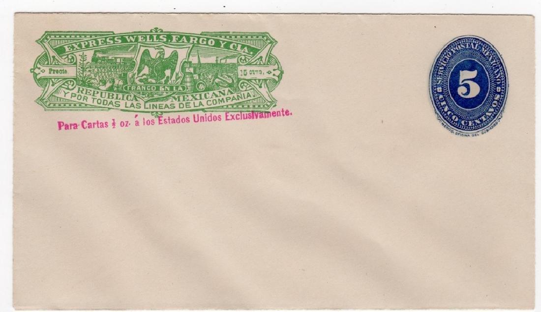 1880s Mexico Wells Fargo Express postal stationary