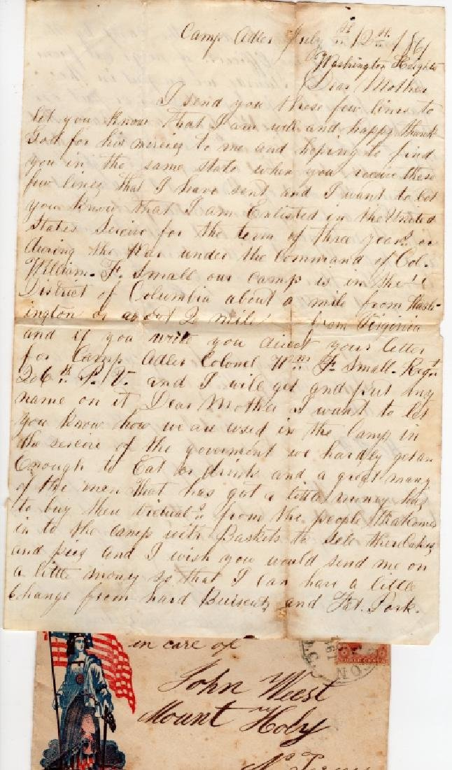 Collection of Civil war covers & letters - 2