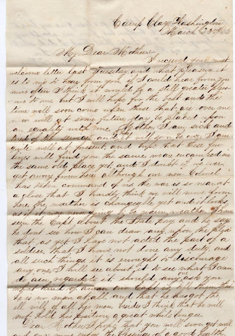 Collection of Civil war covers & letters - 6