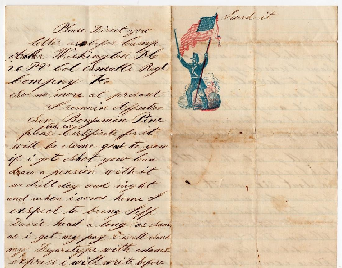 Collection of Civil war covers & letters - 8
