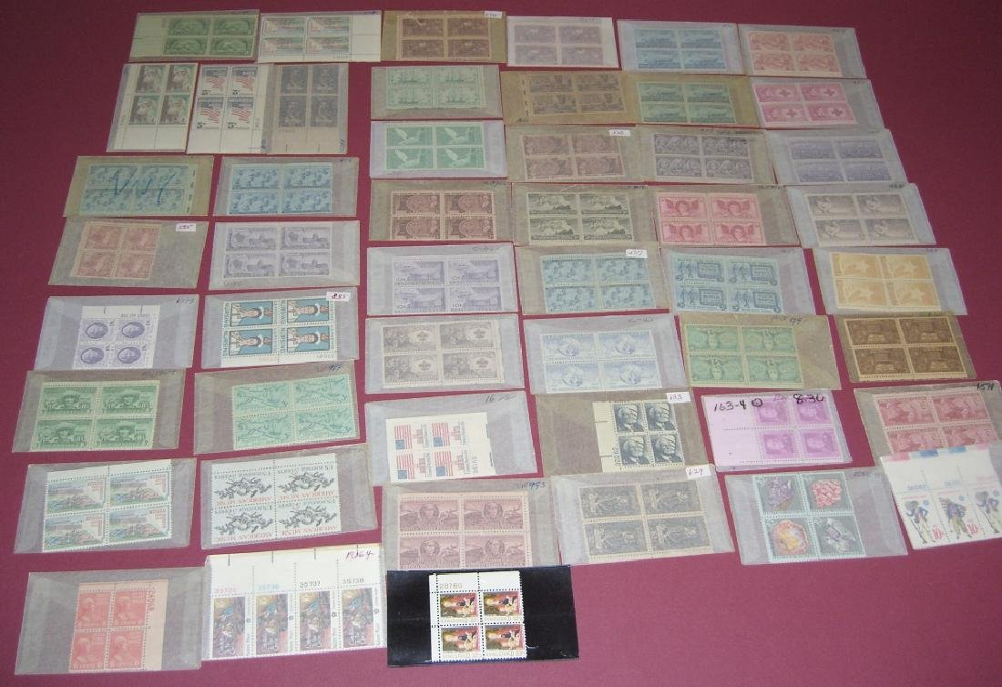 US 50 mixed  block stamps lot