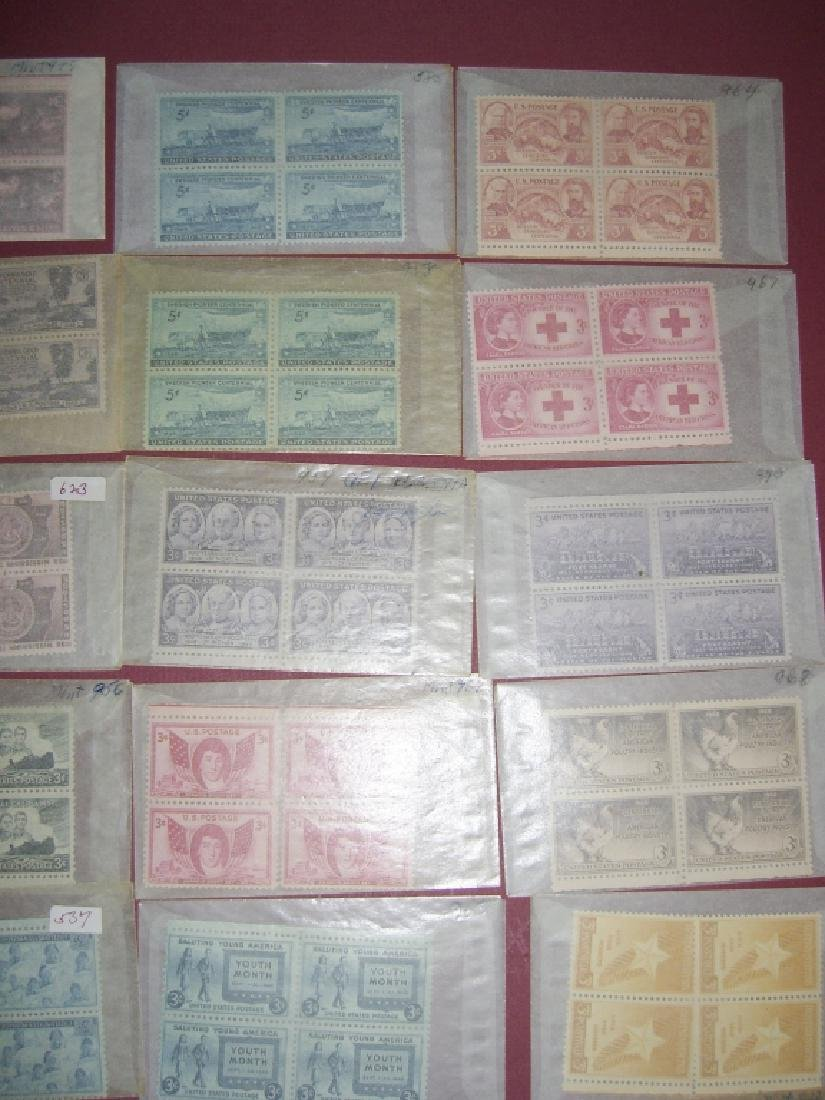 US 50 mixed  block stamps lot - 3