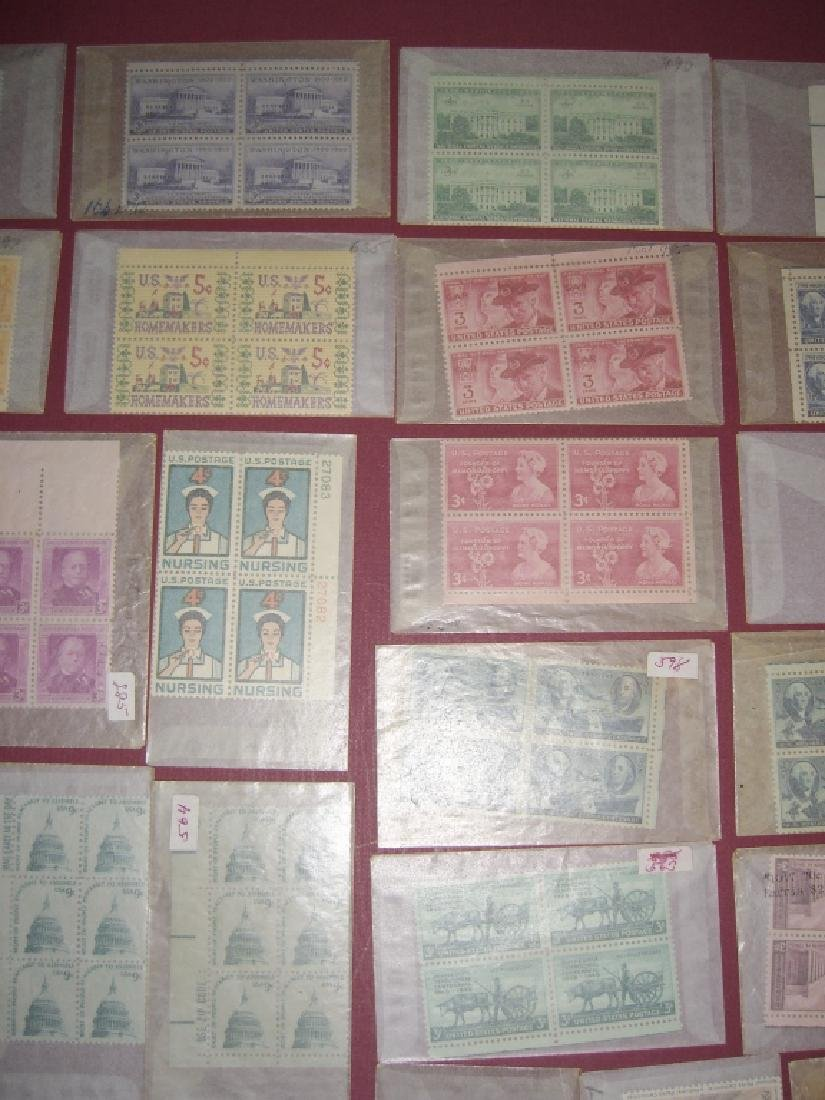 US 50 mixed  block stamps lot - 7