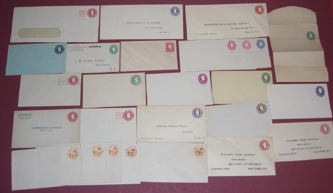 US 26 mint embossed stamped envelope covers