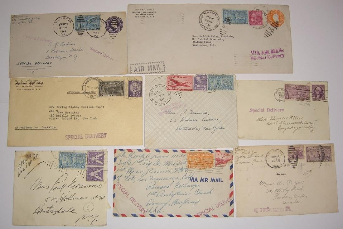 US 9 special delivery stamped envelope covers