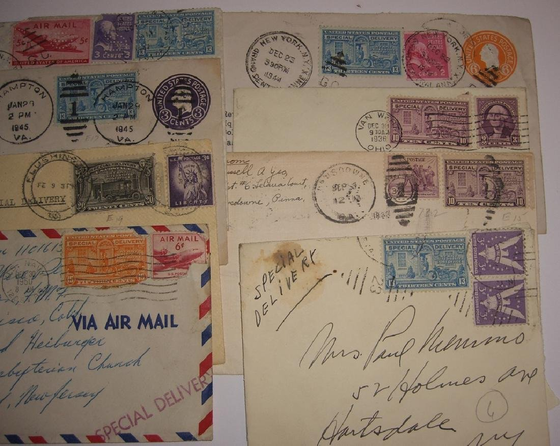 US 9 special delivery stamped envelope covers - 2