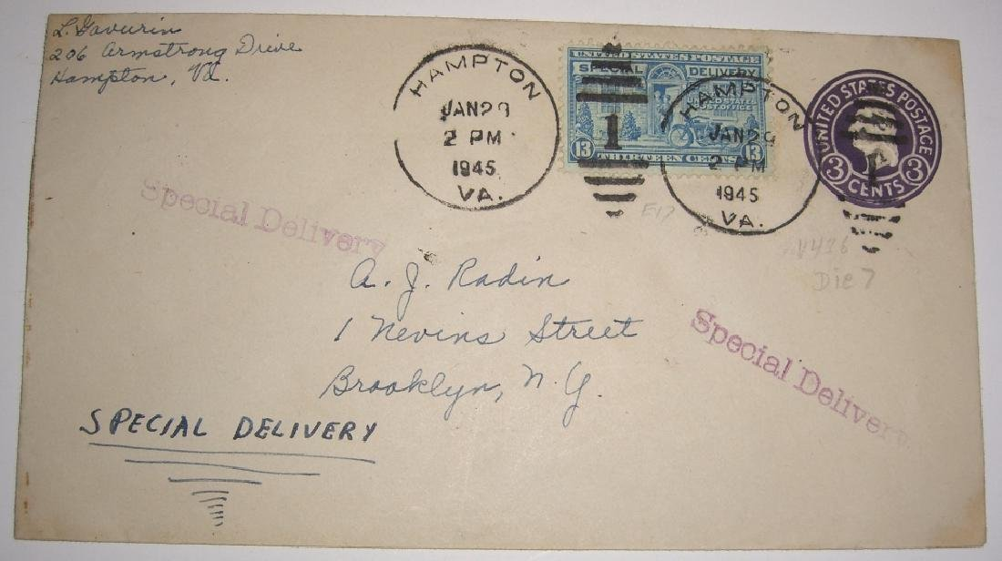 US 9 special delivery stamped envelope covers - 3