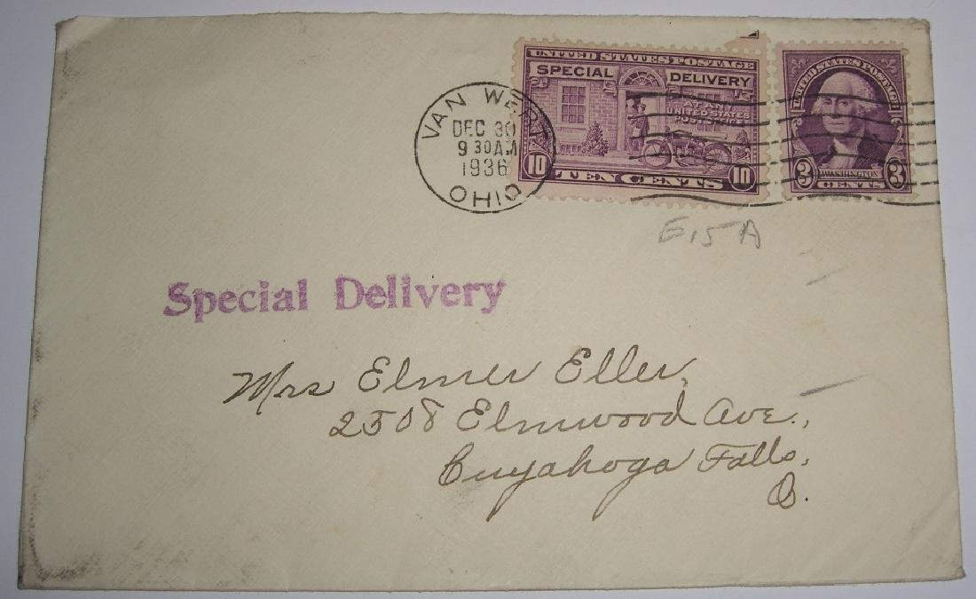 US 9 special delivery stamped envelope covers - 5