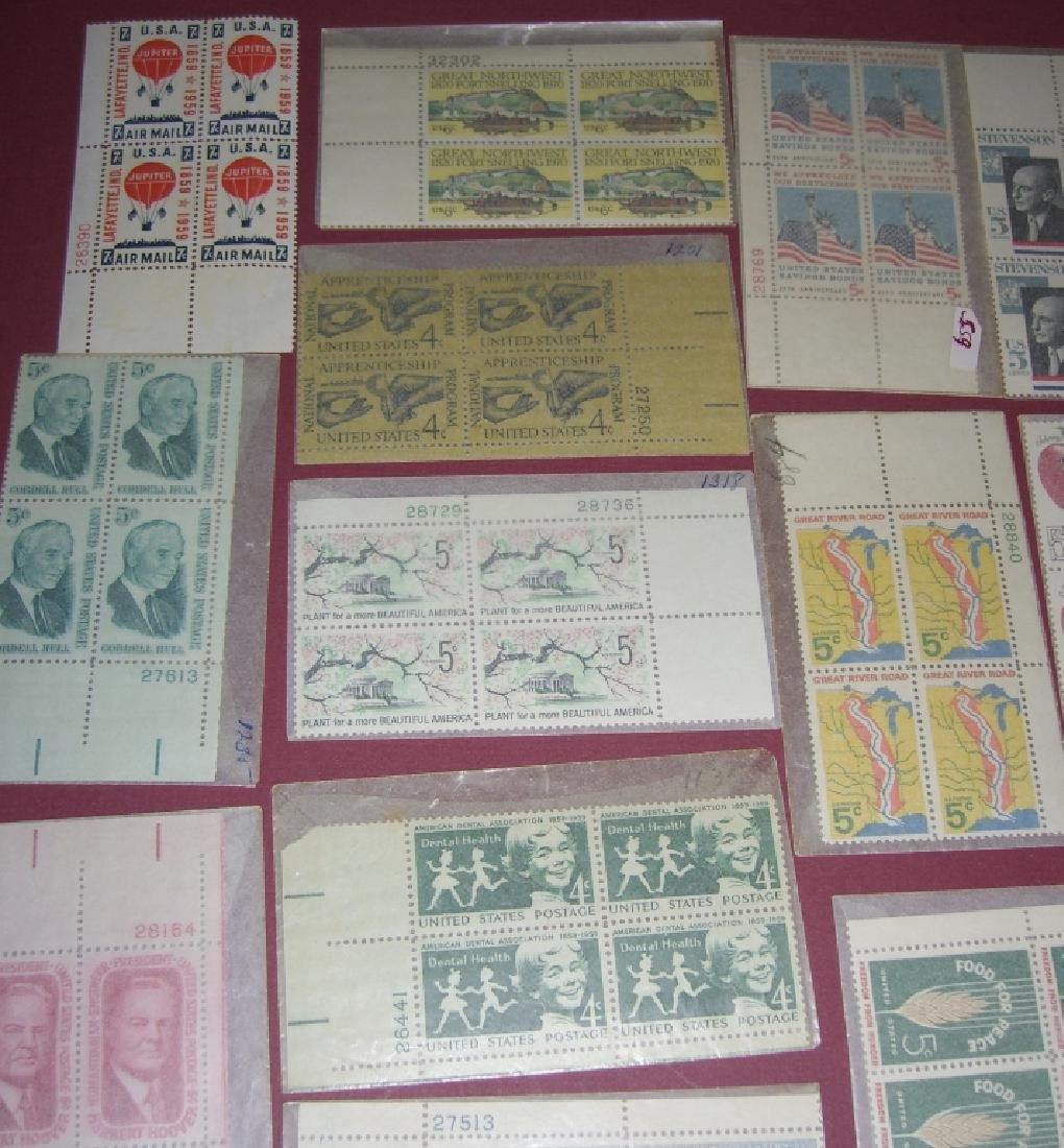US 50 mixed block stamps lot - 8