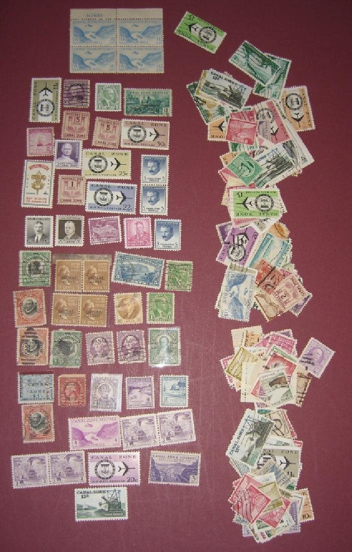 US 1904-1958 Canal Zone stamps lot