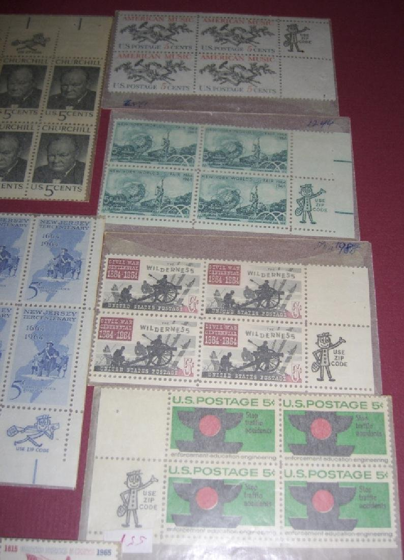 US 11 block stamps with Use Zip Code man - 2