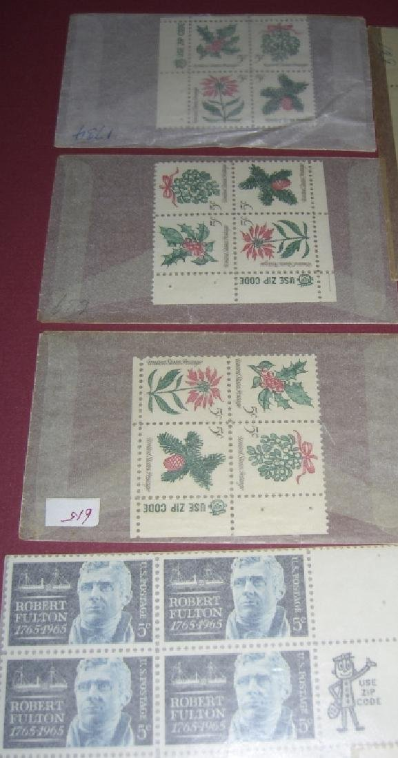 US 11 block stamps with Use Zip Code man - 4