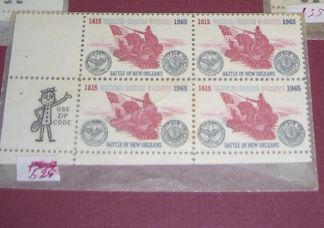 US 11 block stamps with Use Zip Code man - 5