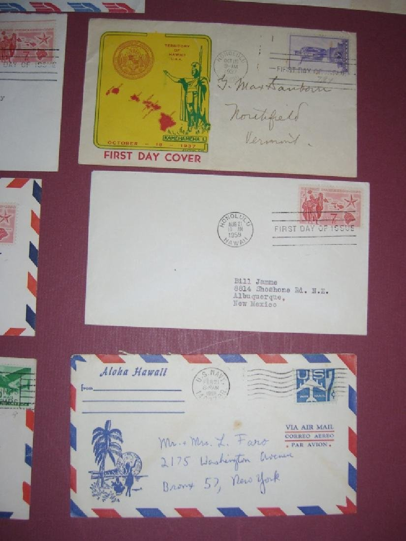 US 18 Hawaii stamps & air mail first day covers - 5