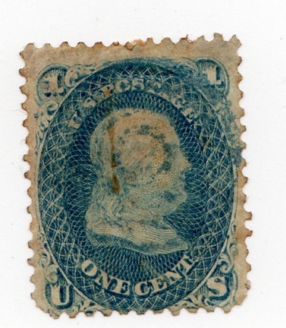 US 1 cent Ben Franklin stamp