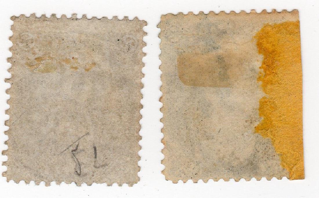 2 US 2 cents Andrew Jackson stamps - 2