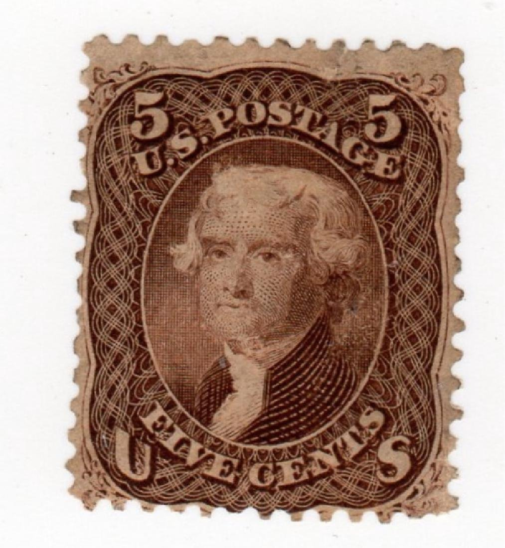 US 1861-1866 5 cents Jefferson stamp