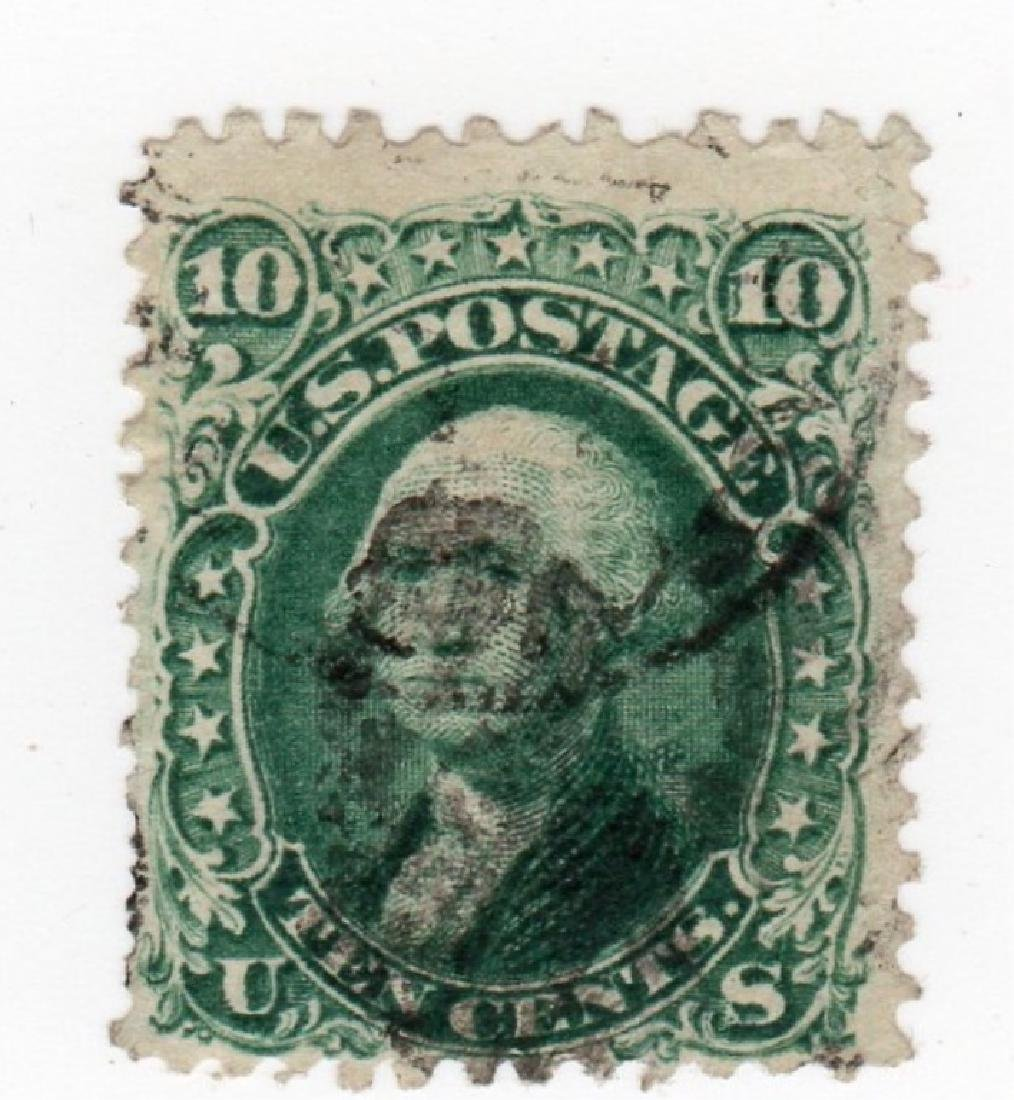 US 1867 10 cents Washington E-Grill stamp