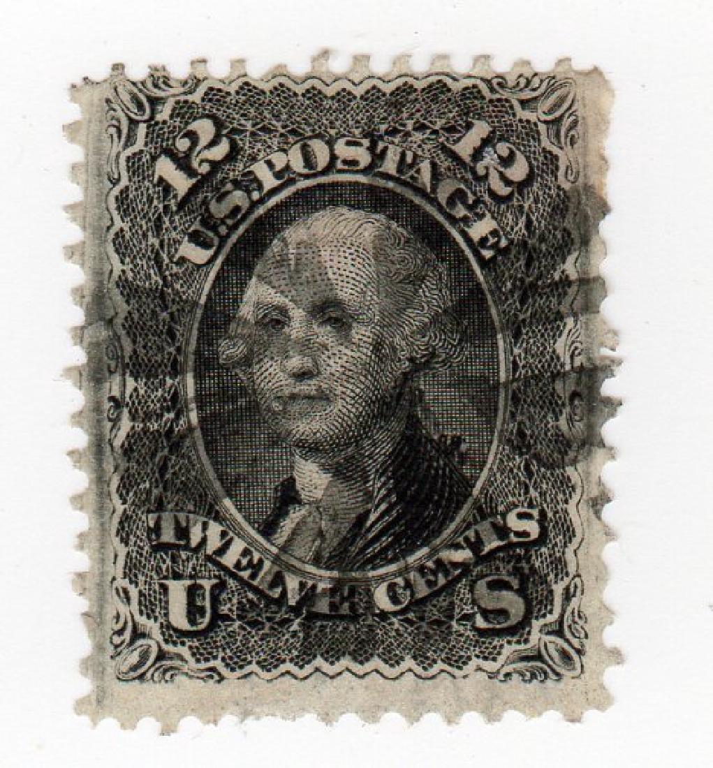 US 1867 12 cents Washington F-Grill stamp