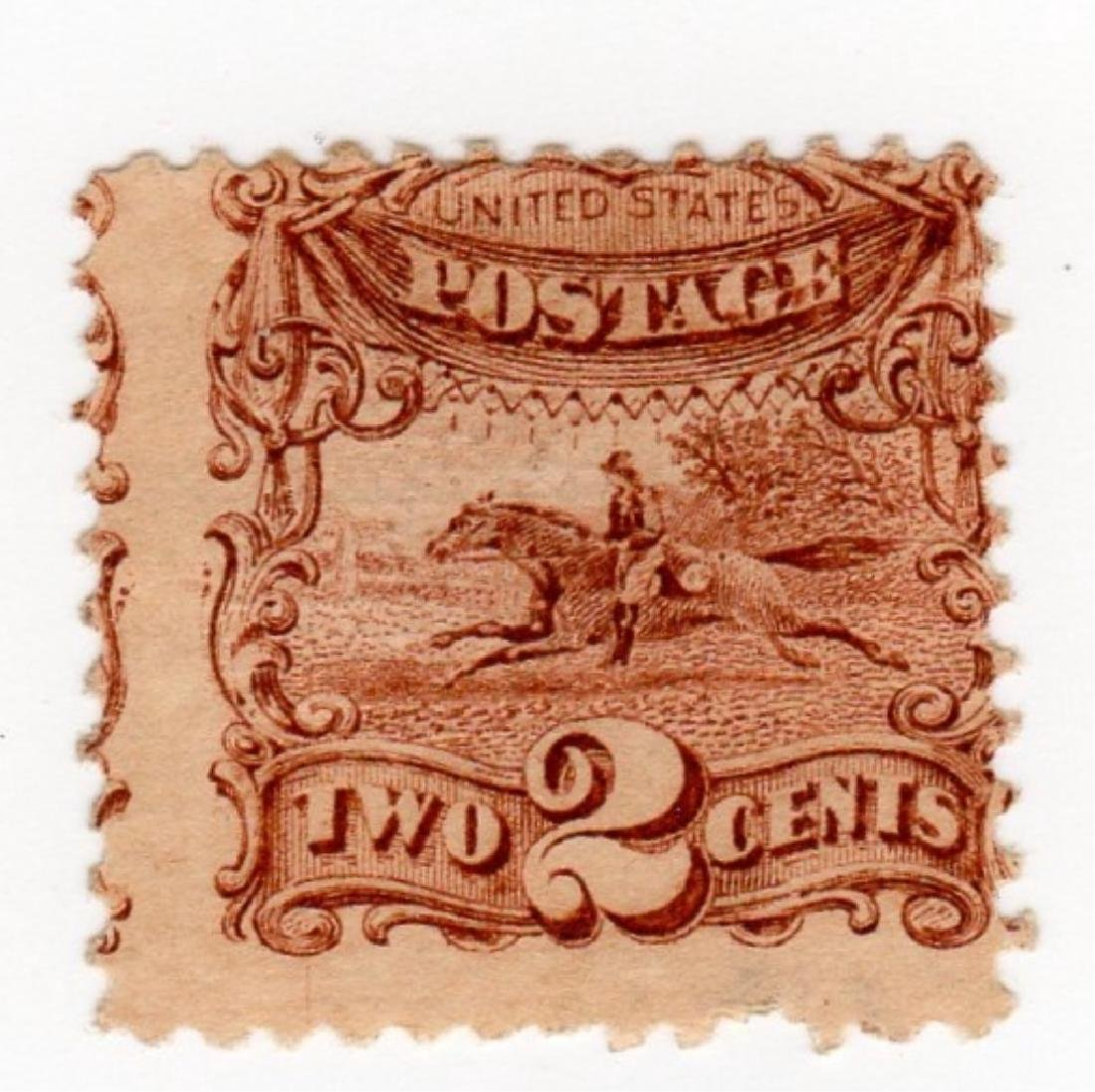 US 1869 2 cents Post horse & rider stamp