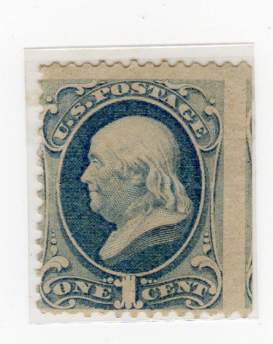 US 1873 1 cent Ben Franklin stamp