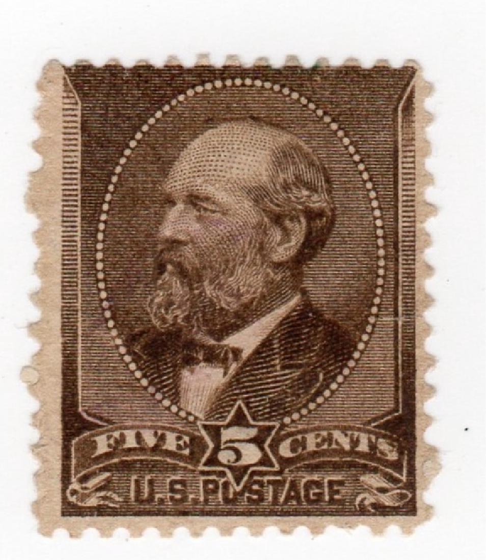 US 1873 5 cents James Garfield stamp