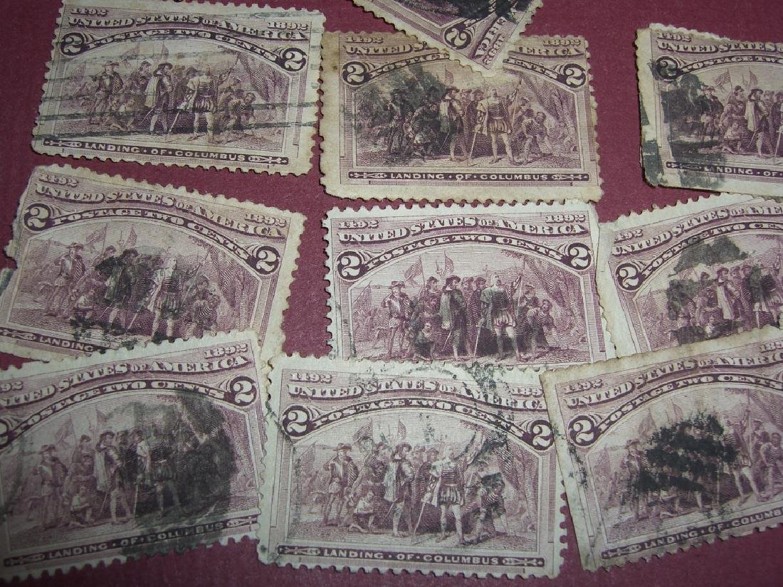 100 US 1893 exposition landing of Columbus stamps - 6