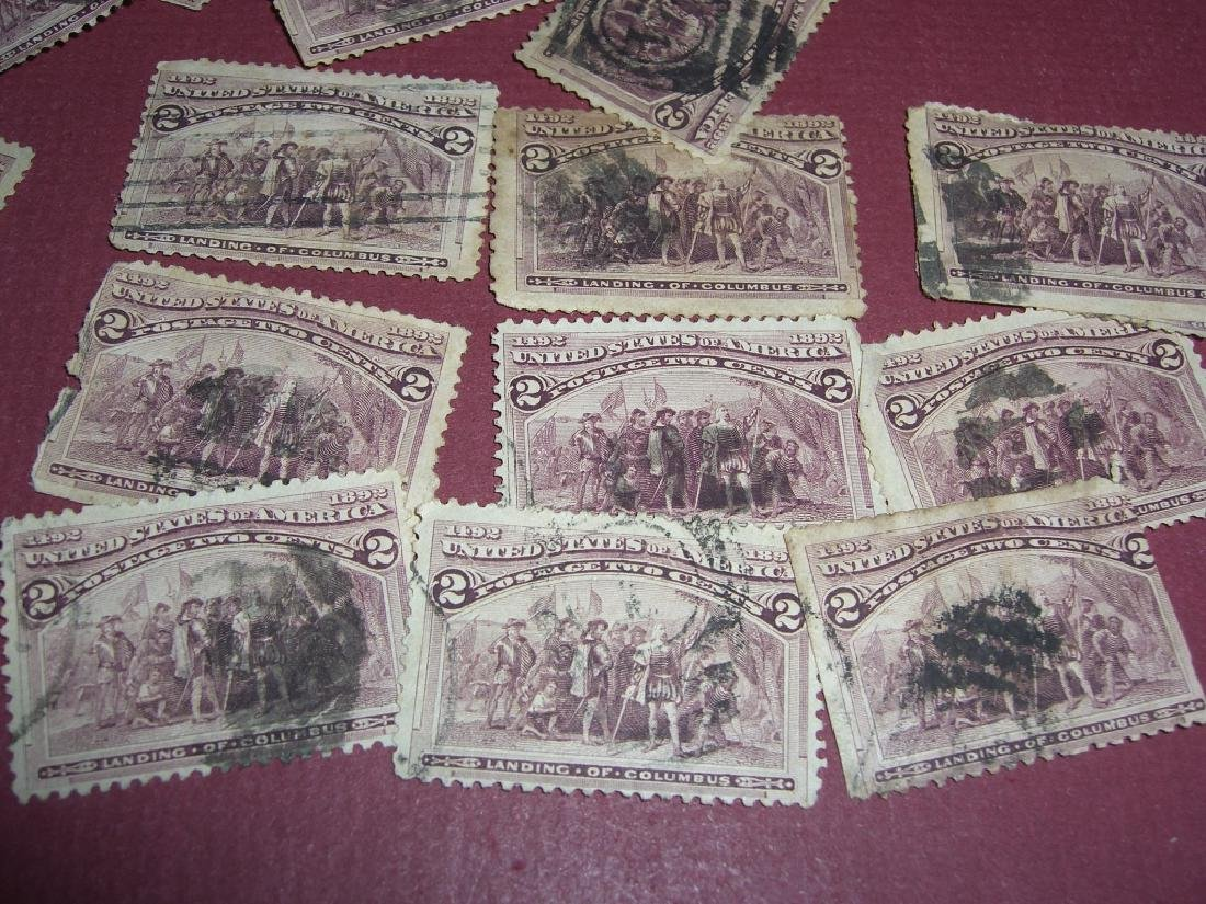 100 US 1893 exposition landing of Columbus stamps - 7
