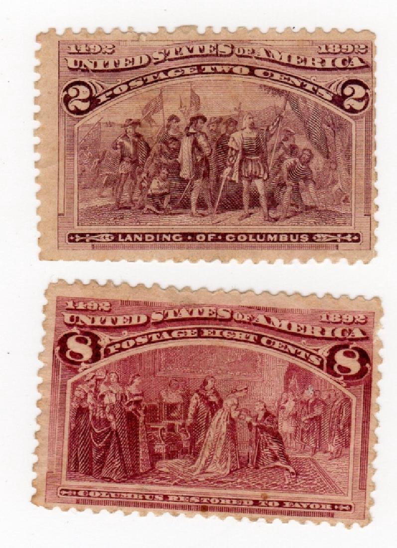 2 US 1893 stamps