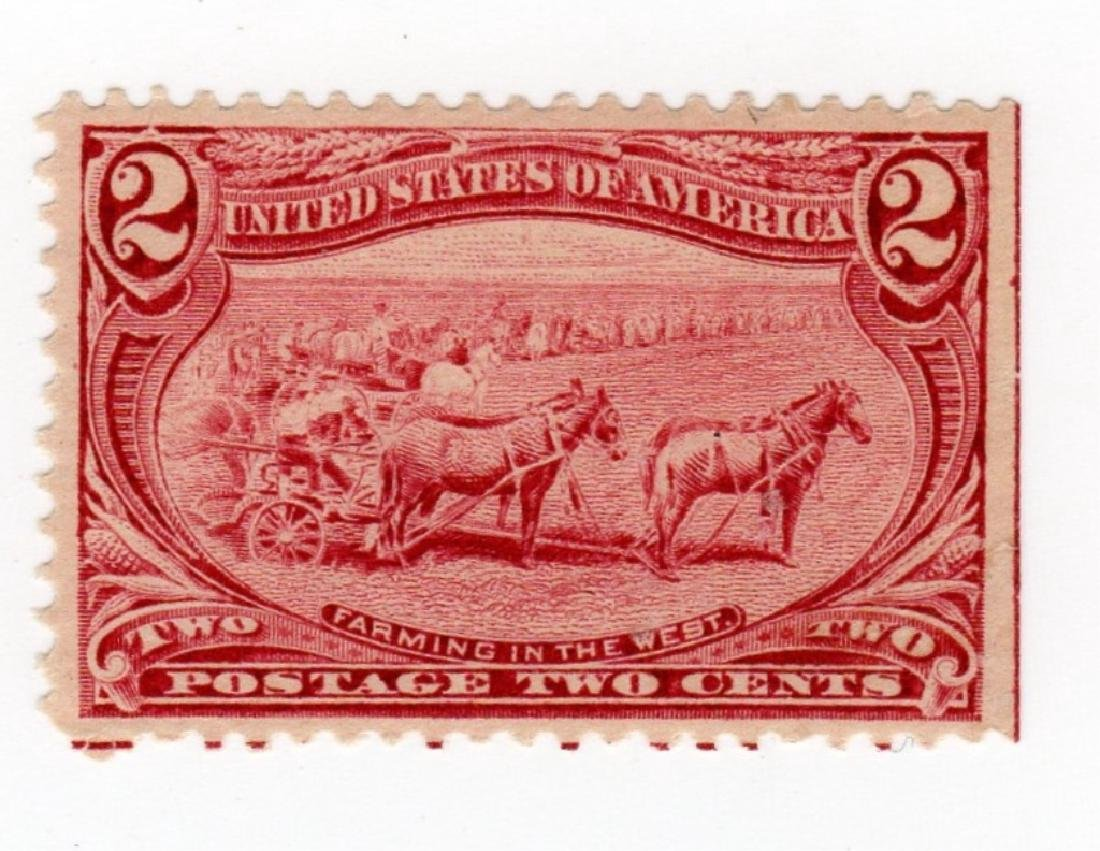 US 1898 2 cents Farming in the West