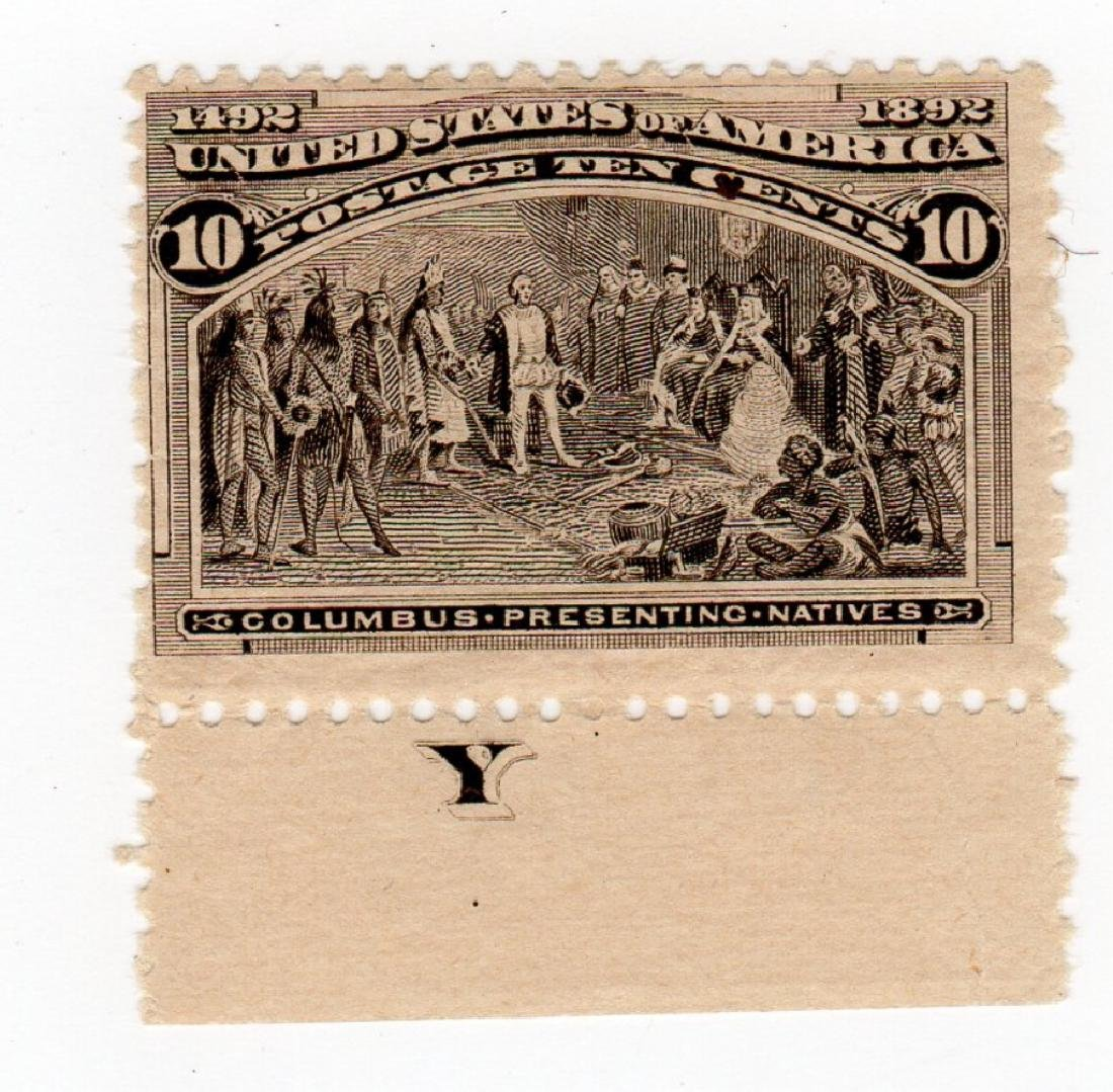 US 1898 10 cents Columbus presenting Natives