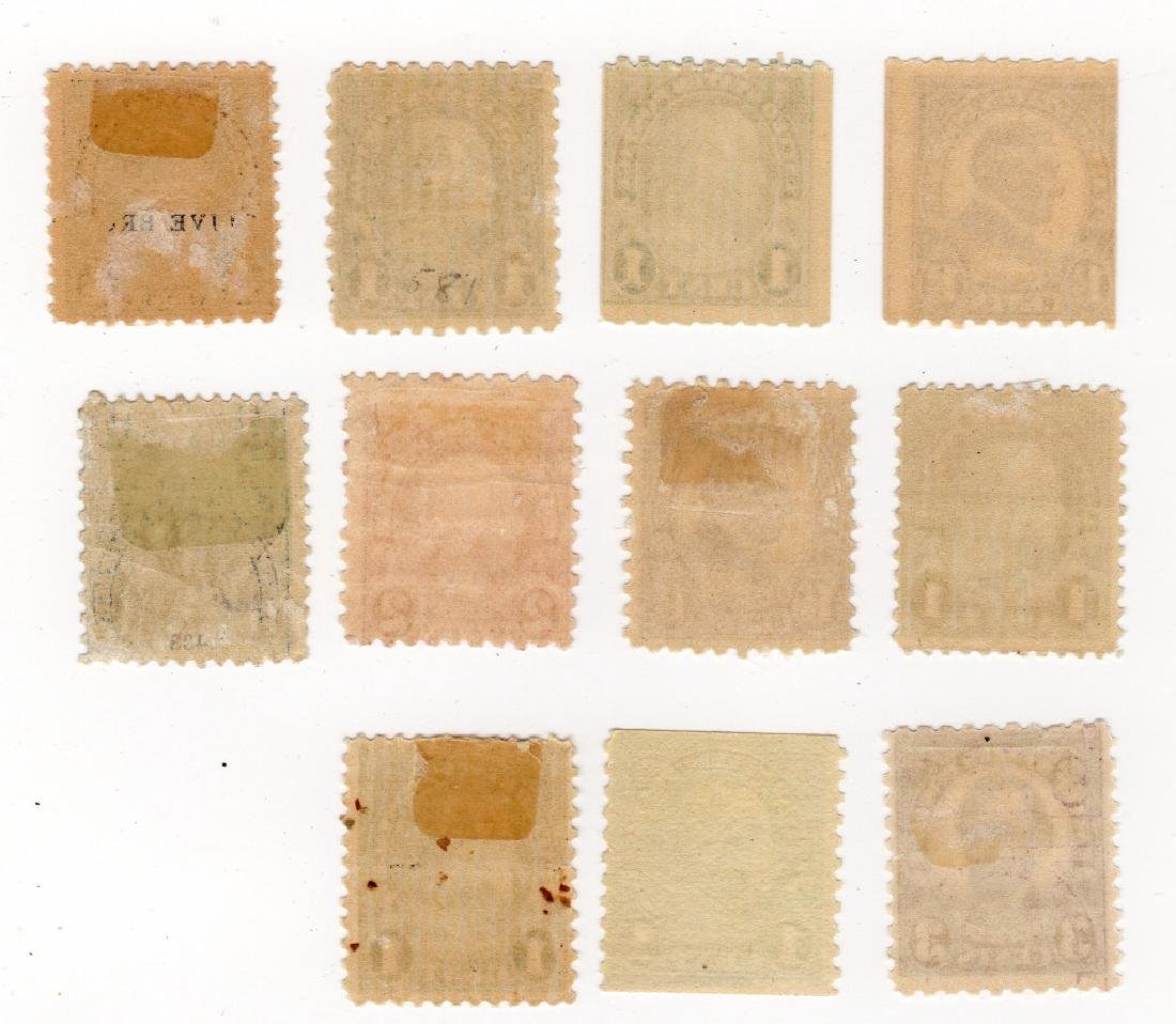 11 US 1922-1925 Flat plate printing stamps - 2